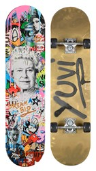 Dream Big Skateboard by Yuvi - Mixed Media Sculpture sized 31x8 inches. Available from Whitewall Galleries